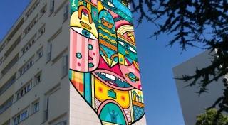 Inauguration d'une fresque à Bagneux (92)