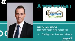 Trophées Logement et Territoires: Nicolas Sidot, Jeune Talent Seqens