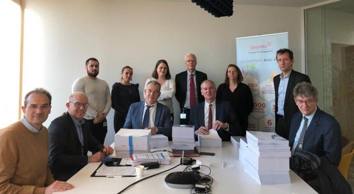 Signature du marché de réhabilitation thermique Bagneux